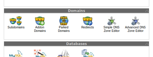 Addon and Parked Domains