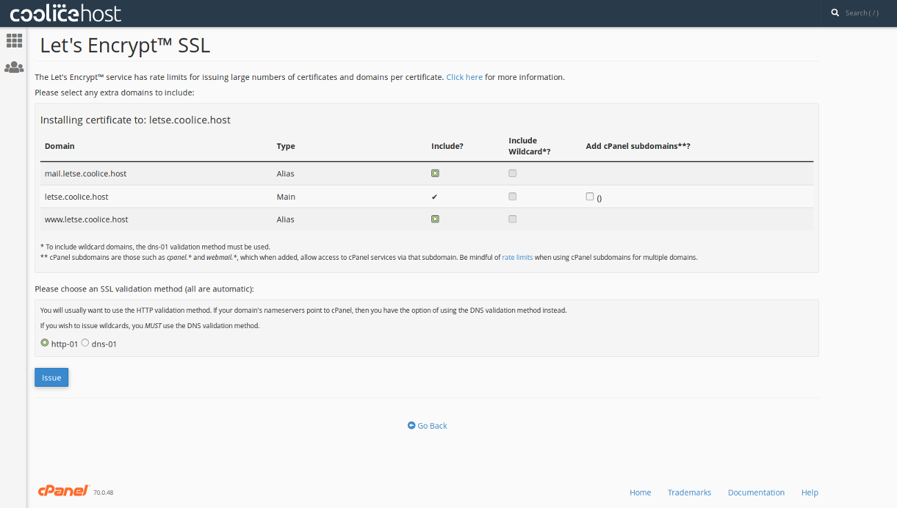 Installing Ssl Certificate Lets Encrypt Coolicehost